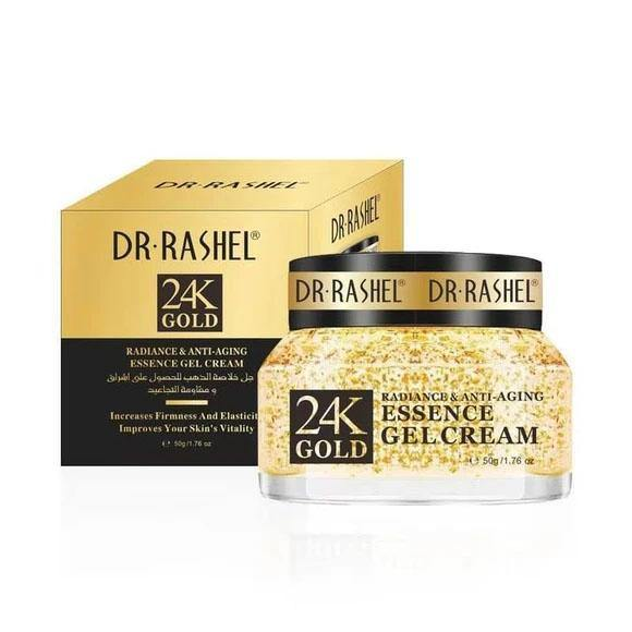 Dr.Rashel 24K Gold Radiance & Anti Aging Essence Gel Cream - zapple.pk