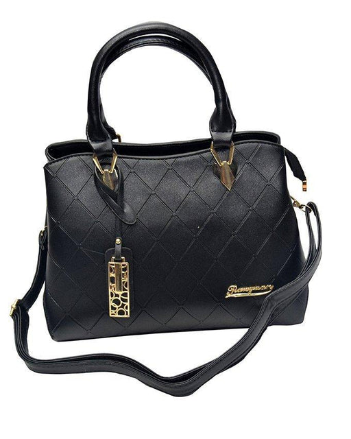 Women Handbag Shoulder Bag Pu Leather - Black