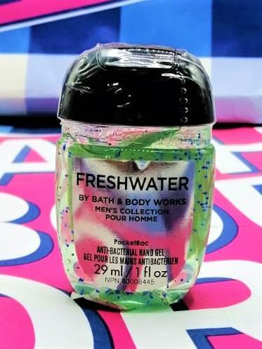 Bath & Body Works Fresh Water Men's Collection PocketBac Anti Bacterial Hand Gel - 29ml - zapple.pk