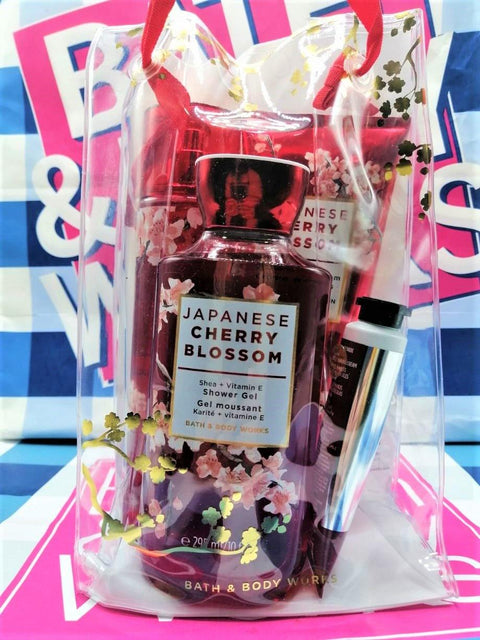 Bath & Body Works Japanese Cherry Blossom Gift Box Set - Large - zapple.pk