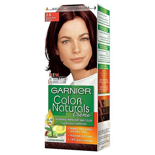 Garnier Color Naturals 3.6 Deep Red Brown - zapple.pk