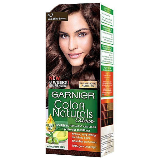 Garnier Color Naturals 4.7 Dark Shiny Brown - zapple.pk