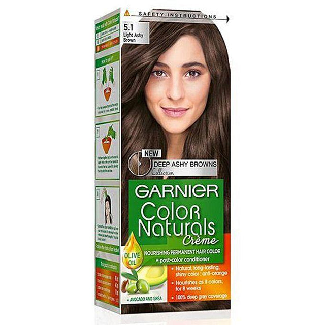 Garnier Color Naturals 5.1 Light Ashy Brown ( Frozen Browns ) - zapple.pk