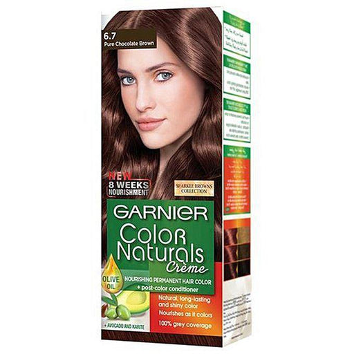 Garnier Color Naturals 6.7 Sparkle Pure Chocolate Brown - zapple.pk
