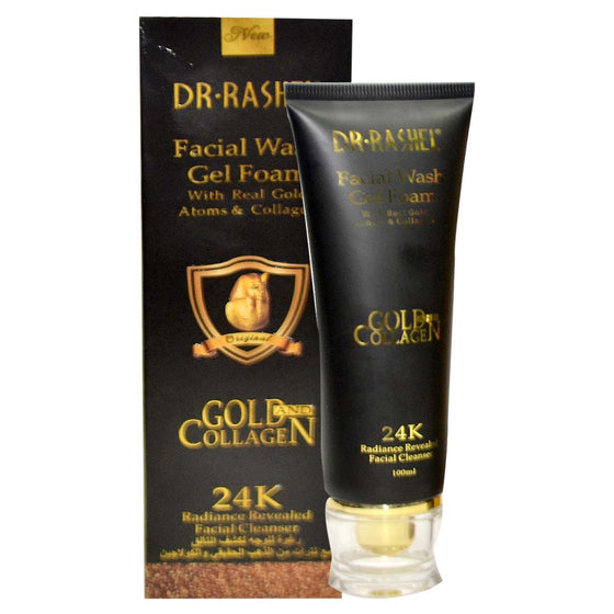 Dr.Rashel 24K Gold Facial Wash Cleanser Gel Foam With Real Gold Atoms & Collagen