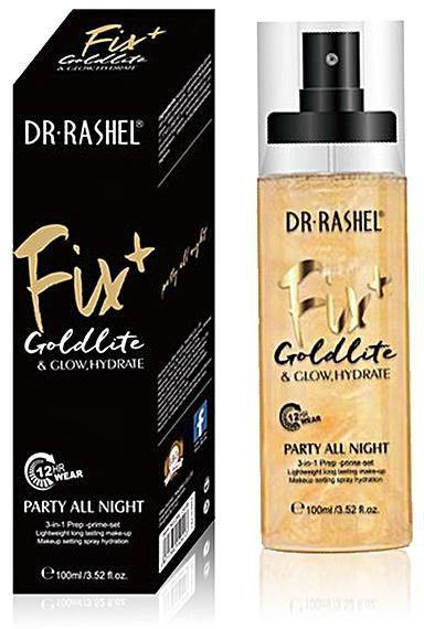 Dr.Rashel Fix Goldlite & Glow, Hydrate Party All Night 3 In 1 Prime Set