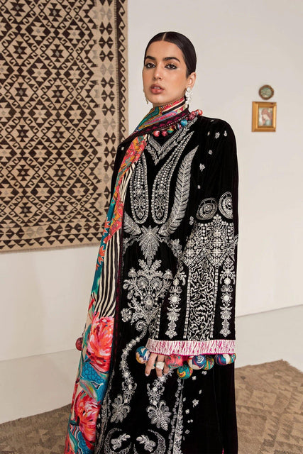 Elan Winter Collection Unstitched Embroidered 3PC Suit - EW20-02 (RHEA) - zapple.pk