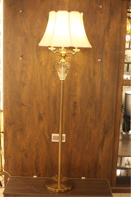 Classical Crystal Bronze Decorative Floor Lamp - FL06 - zapple.pk