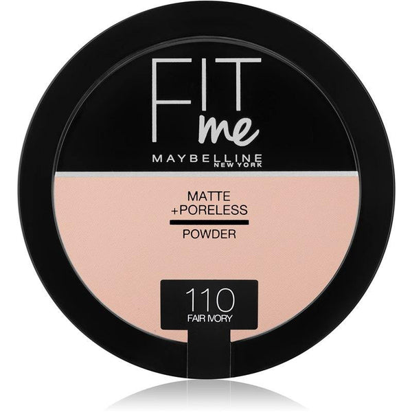 Maybelline Fit Me Matte + Poreless Powder 110 Fair Ivory - zapple.pk