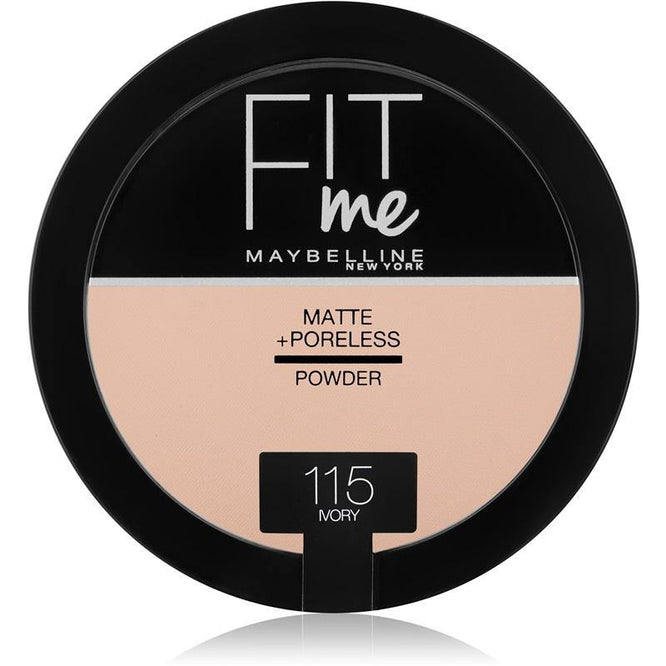 Maybelline Fit Me Matte + Poreless Powder 115 Ivory - zapple.pk