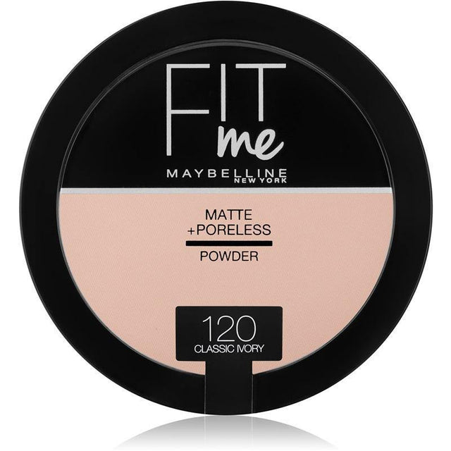 Maybelline Fit Me Matte + Poreless Powder 120 Classic Ivory - zapple.pk