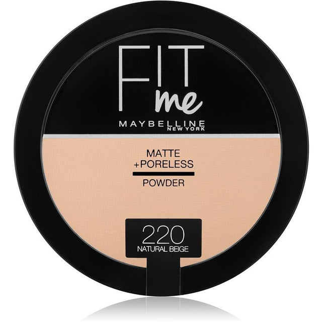Maybelline Fit Me Matte + Poreless Powder 220 Natural Beige - zapple.pk