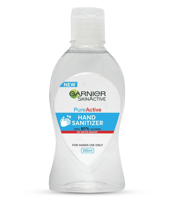 Garnier Skin Active Pure Active Hand Sanitizer, 80% Alcohol 250ml - zapple.pk