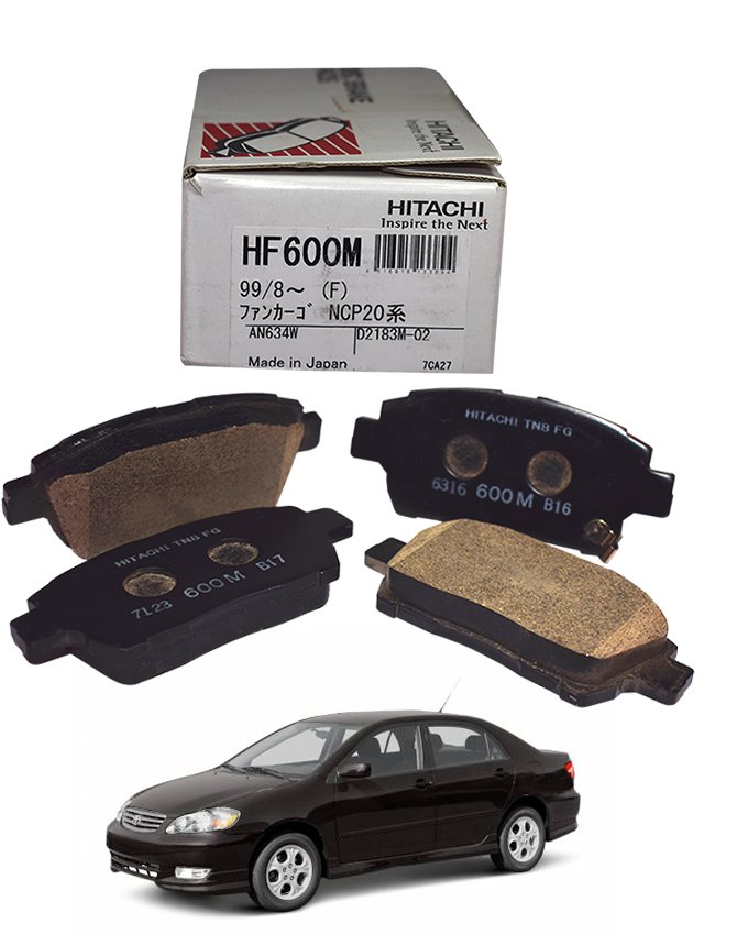 Toyota Corolla 2003 to 2008 - Disc Brake Pads Front