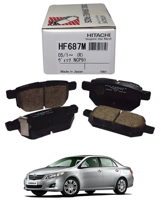 Toyota Corolla 2009 to 2014 - Disc Brake Pads Rear - zapple.pk