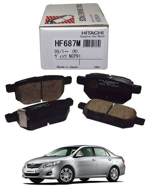 Toyota Corolla 2009 to 2020 - Disc Brake Pads Rear - zapple.pk