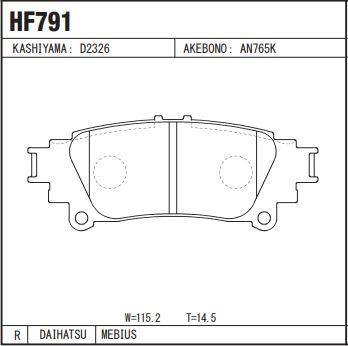 Daihatsu Mebius Disc Brake Pads Rear Set - zapple.pk