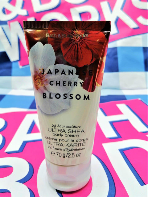 Bath & Body Works Japanese Cherry Blossom Ultra Shea Body Cream - 70ml