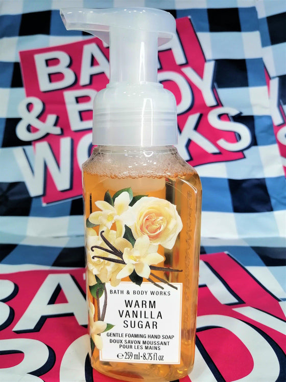Bath & Body Works Warm Vanilla Sugar Gentle Foaming Hand Soap - 259ml - zapple.pk