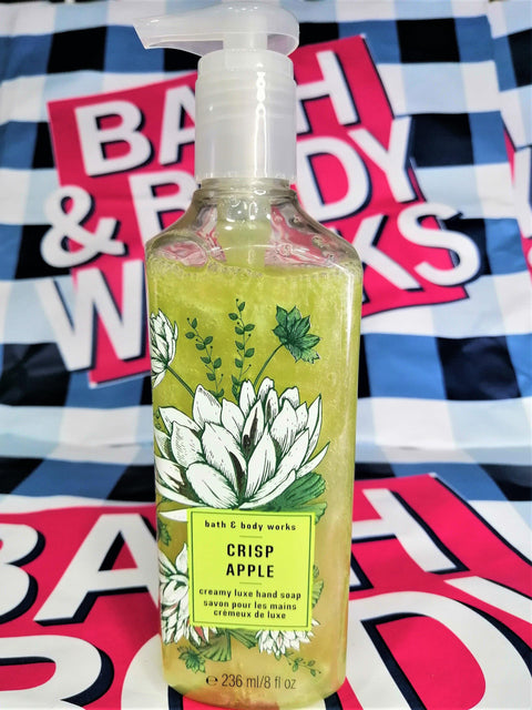 Bath & Body Works Crisp Apple Creamy Luxe Hand Soap - 236ml - zapple.pk