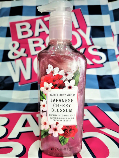 Bath & Body Works Japanese Cherry Blossom Creamy Luxe Hand Soap - 236ml - zapple.pk