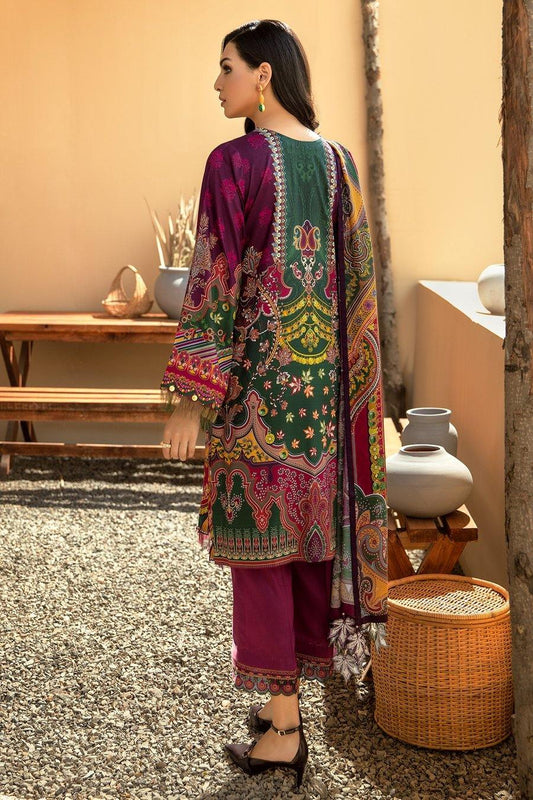 IRIS VIRSA by Jazmin Embroidered Linen Unstitched 3 Piece Suit - 01 Shabab - zapple.pk
