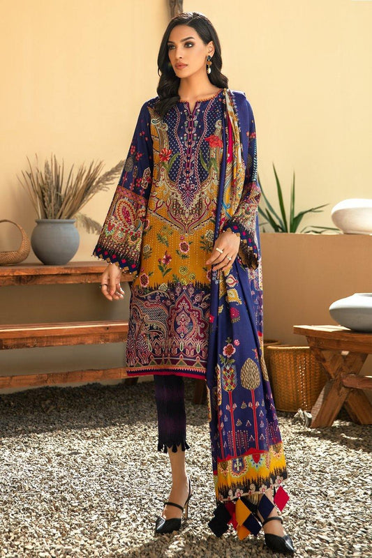 IRIS VIRSA by Jazmin Embroidered Linen Unstitched 3 Piece Suit - 04 Aashna - zapple.pk