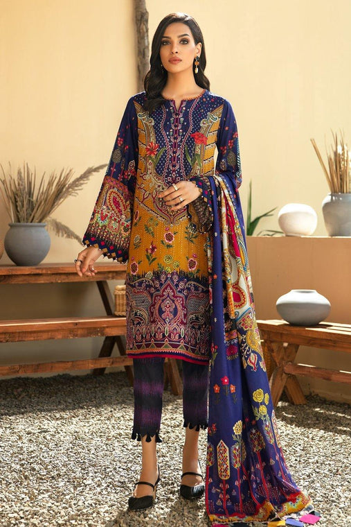 IRIS VIRSA by Jazmin Embroidered Linen Unstitched 3 Piece Suit - 04 Aashna
