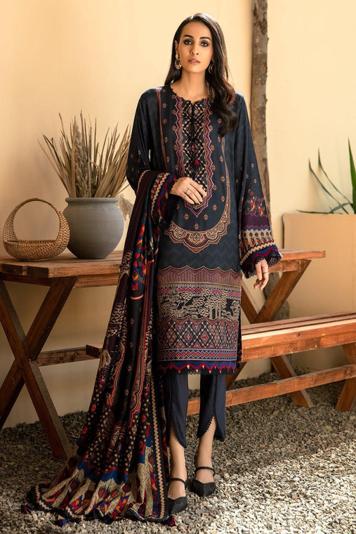 IRIS VIRSA by Jazmin Embroidered Linen Unstitched 3 Piece Suit - 05 Parvaneh