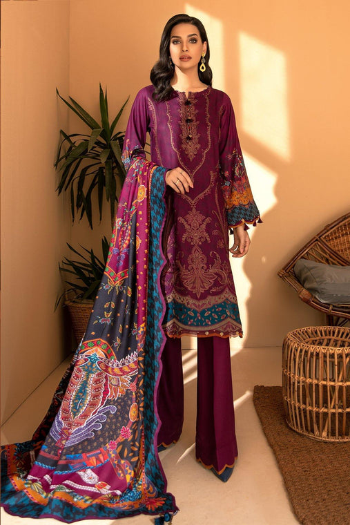 IRIS VIRSA by Jazmin Embroidered Linen Unstitched 3 Piece Suit - 06 Banugul