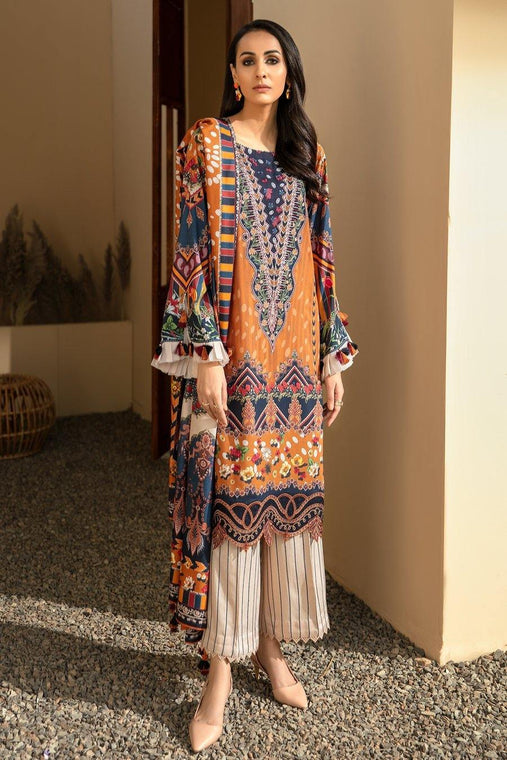 IRIS VIRSA by Jazmin Embroidered Linen Unstitched 3 Piece Suit - 11 Seher