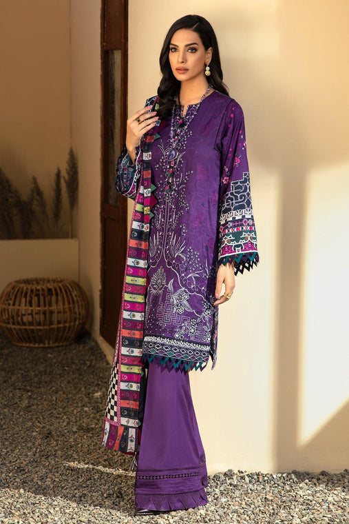 IRIS VIRSA by Jazmin Embroidered Linen Unstitched 3 Piece Suit - 12 Aqeeq