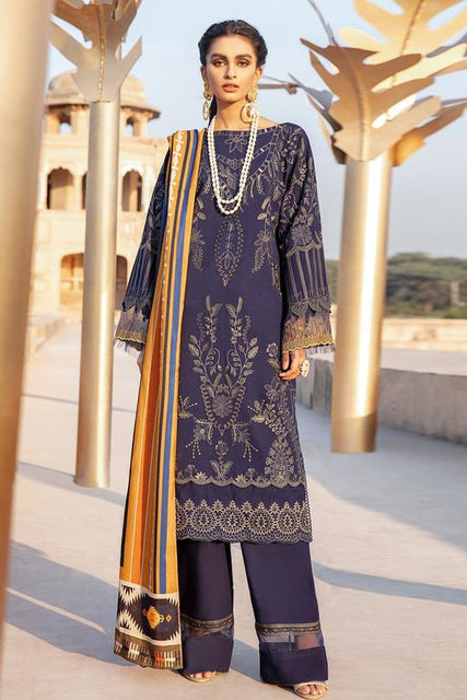 Iznik Zarsa Winter Collection`20 Unstitched 3PC Suit - 06 Esta - zapple.pk
