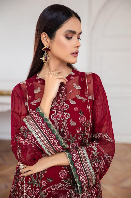 Jazmín Mahpare Luxury Chiffon Collection Un-Stitched Suit - Arash 06 - zapple.pk