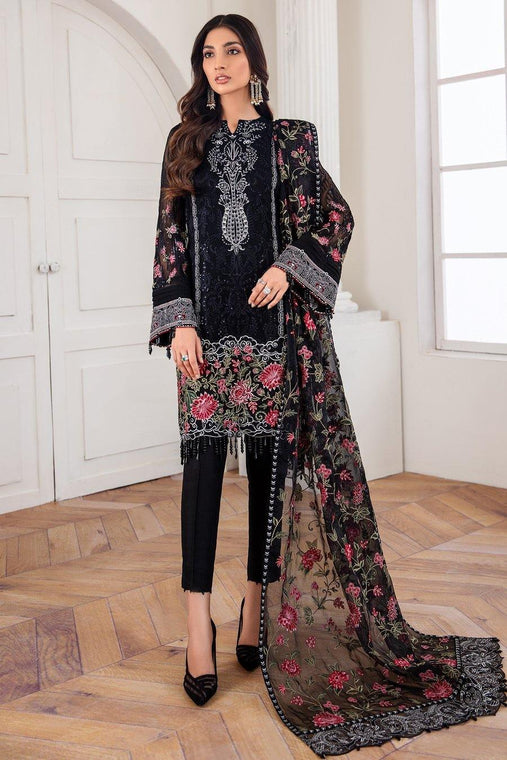 Jazmín Mahpare Luxury Chiffon Collection Un-Stitched Suit - Mehlika 03 - zapple.pk