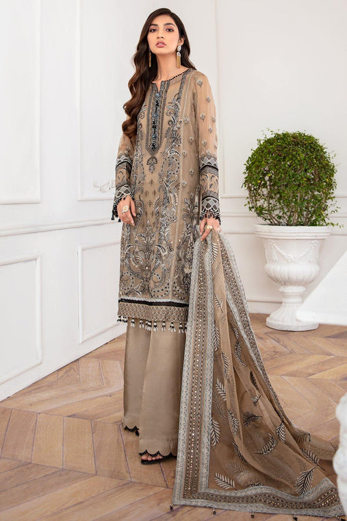 Jazmín Mahpare Luxury Chiffon Collection Un-Stitched Suit - Nirush 07 - zapple.pk