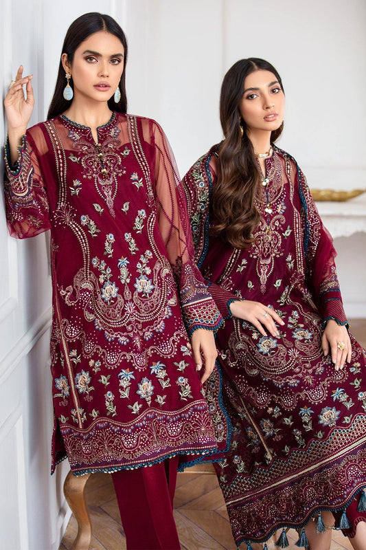 Jazmín Mahpare Luxury Chiffon Collection Un-Stitched Suit - Soulmaz 10 - zapple.pk
