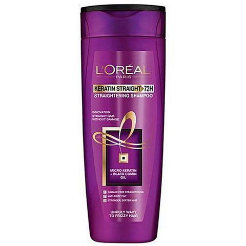 L'ORÉAL Paris Keratin Straight 72H Shampoo 175ml - zapple.pk
