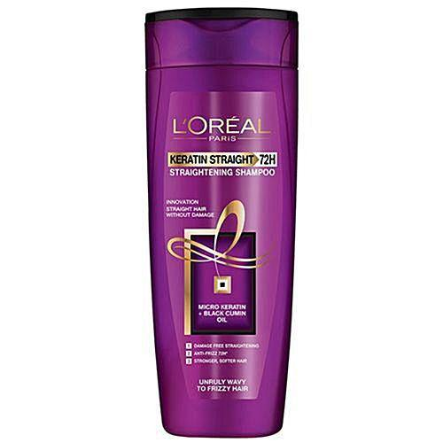 L'ORÉAL Paris Keratin Straight 72H Shampoo 360ml - zapple.pk