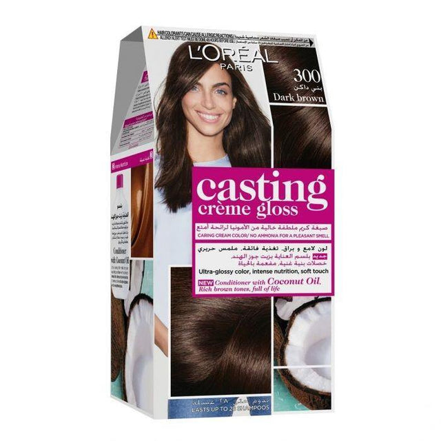 L'ORÉAL Paris Casting Creme Gloss 300 Darkest Brown Dark Brown - zapple.pk