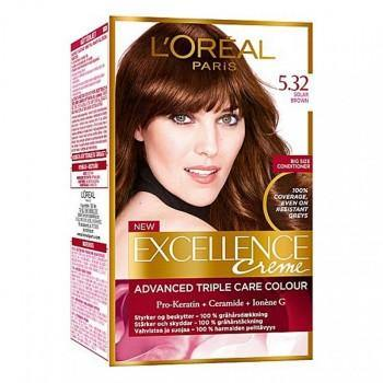 L'ORÉAL Paris Excellence Creme 5.32 Solar Brown - zapple.pk