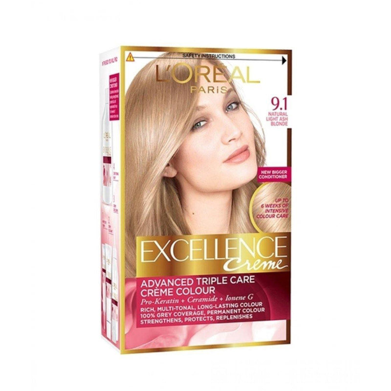L'ORÉAL Paris Excellence Creme 9.1 Light Ash Blond - zapple.pk
