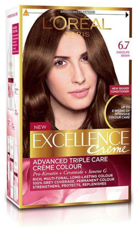 L'ORÉAL Paris Excellence Intense Creme 6.7 Chocolate Brown - zapple.pk