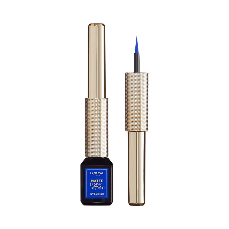 L'ORÉAL Paris Matte Signature Liquid Eyeliner - 02 Blue - zapple.pk