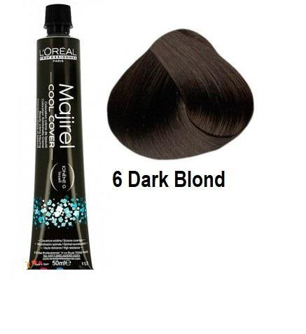 L'ORÉAL Paris Professionnel Majirel Cool Cover Hair Color Cream 6 Dark Blonde - 50ml - zapple.pk