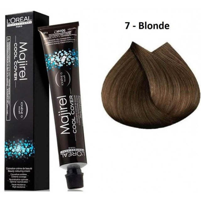 L'ORÉAL Paris Professionnel Majirel Cool Cover Hair Color Cream 7 Blonde - 50ml - zapple.pk