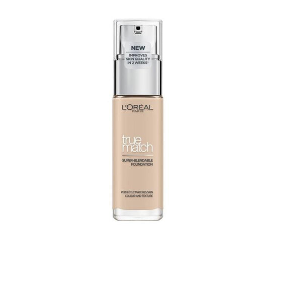 L'ORÉAL Paris True Match Super Blendable Foundation 1N Ivory - 30ml - zapple.pk