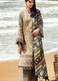 Lehar By Baroque Winter Collection Embroidered Khaddar Unstitched 3 Piece Suit - 07 HAZEL WOOD - zapple.pk
