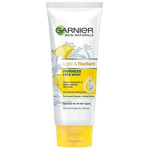 Garnier Light & Radiant Fairness Facewash - 50ml - zapple.pk