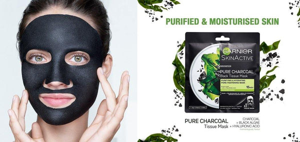 Garnier Skin Active Pure Charcoal Face Mask Black Algae - zapple.pk